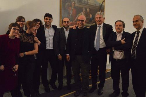 At the Embassy during the presentation of Italian Film Festival Berlin 2016 -