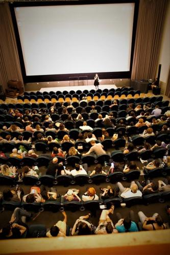Me and the audience – a full cinema for the German Premiere of Principe Libero by L. Faacchini Babylon, 2018