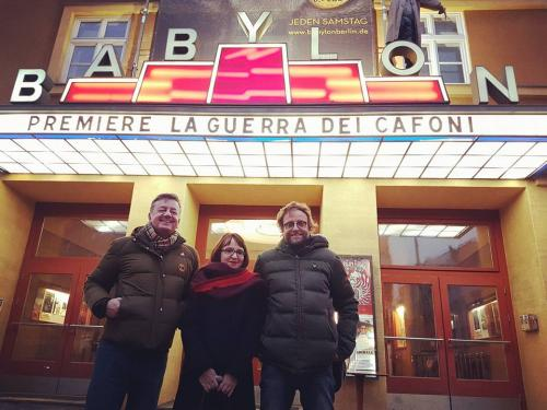 With the Director and the Screenwriter of La Guerra dei Cafoni - German Premiere at the Babylon