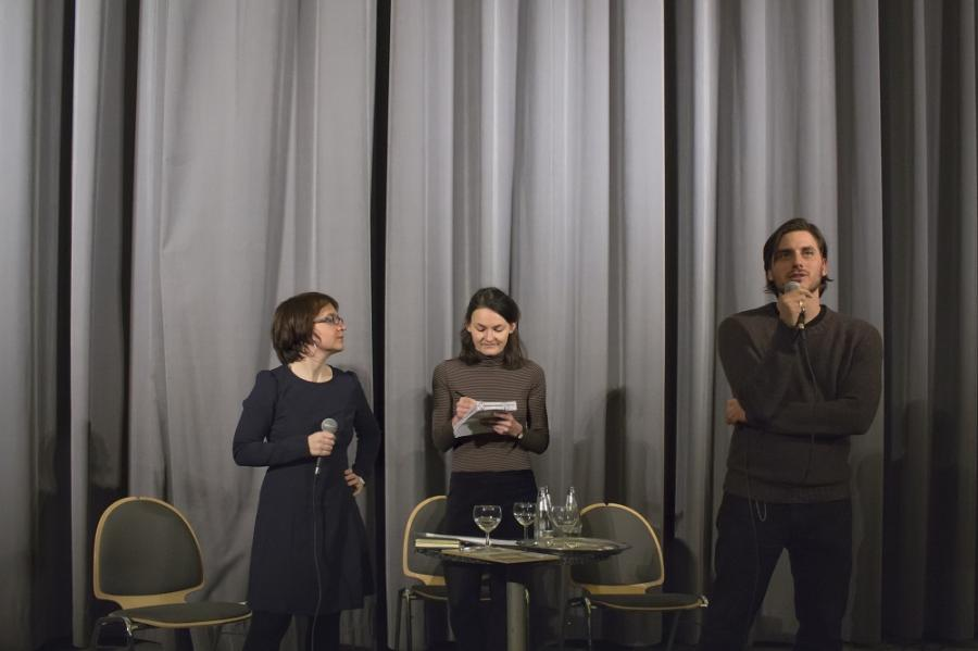 Mara Martinoli Luca Marinelli and I after the screening of Non essere cattivo by C. Caligari Babylon, 2017