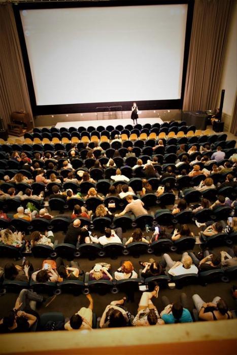 Mara Martinoli Me and the audience – a full cinema for the German Premiere of Principe Libero by L. Faacchini Babylon, 2018