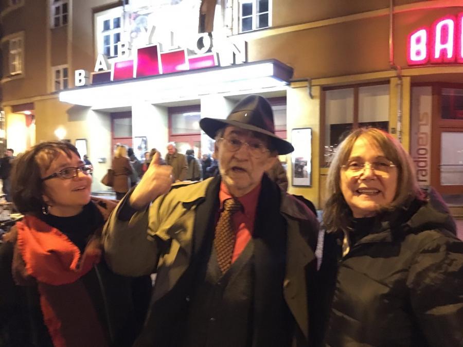Mara Martinoli  Cinema Aperitivo Renzo Rossellini and I before the screening of Stromboli by R. Rossellini Babylon, 2017